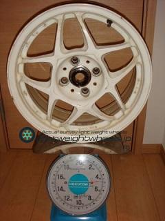 SSR Racing Firenze PRO 15inch 6.5J offset+33mm PCD100mm-4H 重量計測画像