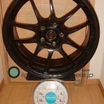 ENKEI Performance Line PF01 18inch 7.5J offset+45mm PCD114.3mm-5H重量計測画像