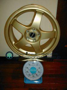 RAYS スバル GDAインプレッサ WR-Limited純正オプション17inch 7J offset+55mm PCD100mm- 5H 重量計測画像