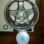 WORK MEISTER S1 17inch 8J offset+35mm PCD114.3mm-5H重量計測画像