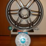 KOSEI K1-Racing TSversion 17inch 8J offset+45mm PCD114.3mm-5H重量計測画像