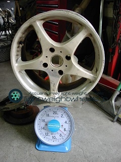 SSR INTEGRAL A2 16inch 7J offset+45mm PCD114.3mm-4H 重量計測画像