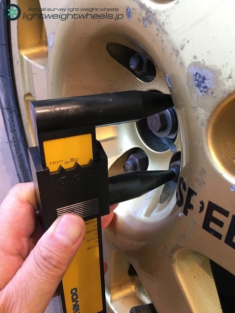 SUBARU LEGACY RS 555 PCD計測