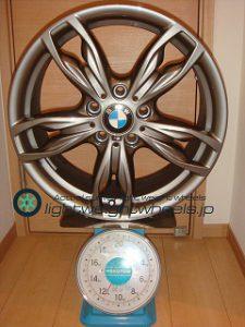 BMW純正 Double Spoke Style 436M 18inch 8J offset+52mm PCD120mm-5H重量計測画像