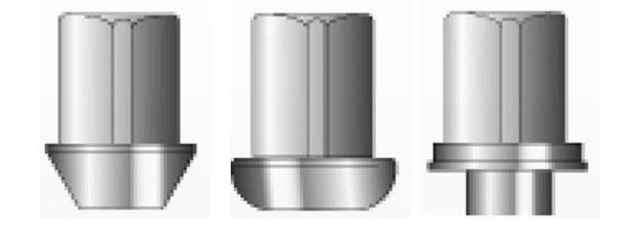 ラグナット座面形状例