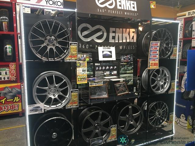 イエローハット新山下店エンケイ展示2