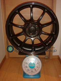 RAYS VOLK Racing ZE40 18inch 7.5J offset+48mm PCD100mm-5H 重量計測画像