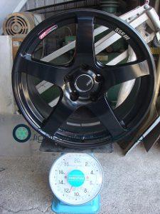TANABE SSR GTV01 18 8.5J offset+22mm PCD114.3mm-5H 重量計測画像