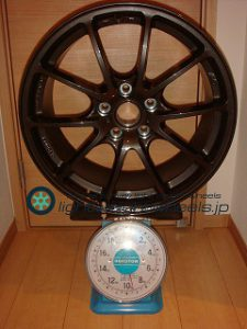 STI Performance 18inch 8.5J offset+53mm PCD114.3mm-5H重量計測画像