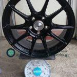 TANABE SSR GTX01 18inch 7.5J offset+53mm PCD114.3mm-5H 重量計測画像