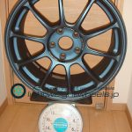 RAYS VOLK Racing ZE40 18inch 8.5J offset+50mm PCD114.3mm-5H 重量計測画像