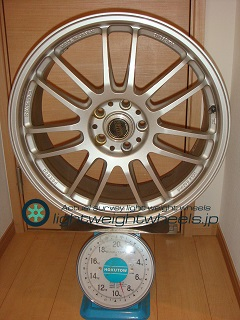 RAYS VOLK Racing RE30 19inch 8J offset+50mm PCD112mm-5H 重量計測画像