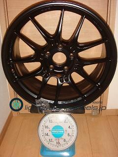 ENKEI Racing GTC02 19inch 9J offset+45mm PCD120mm-5H 重量計測画像
